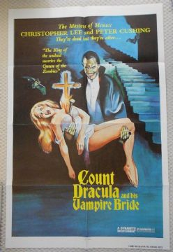 Count Dracula and his Vampire Bride, 1sheet, Christopher Lee, Peter Cushing, '73